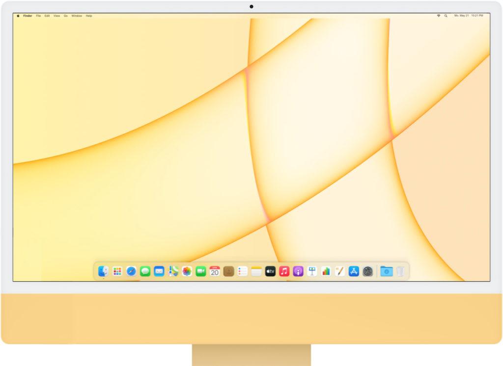 iMac M1 front gelb